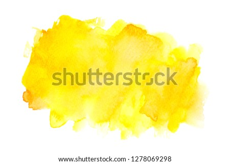 yellow watercolor with colorful shades paint stroke background  #1278069298