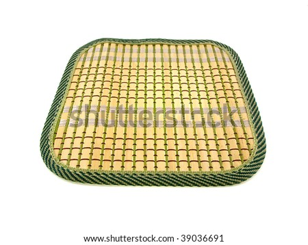 Yellow wattled rug isolated on a white background - stock photo