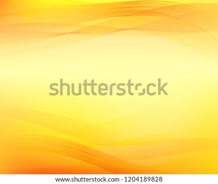 Yellow wavy abstract background.