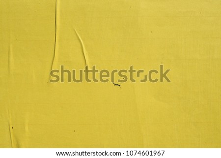 yellow weathered billboard street poster background texture #1074601967