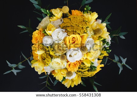 Yellow wedding bouquet #558431308