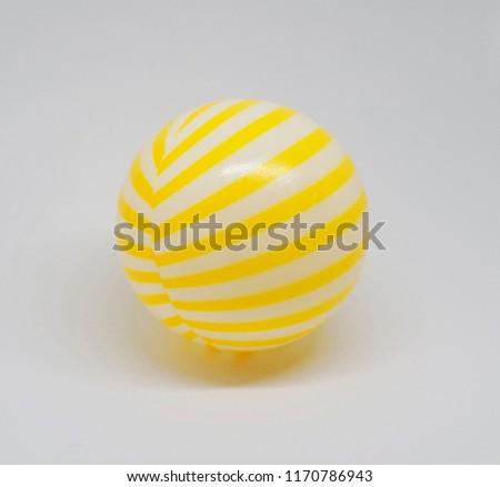 Yellow white stripe ball.                                #1170786943