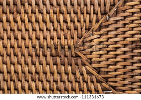 Yellow wicker texture as background