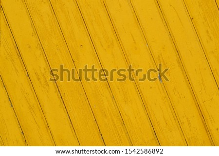 Yellow Wooden Planks with diagonal pattern background texture