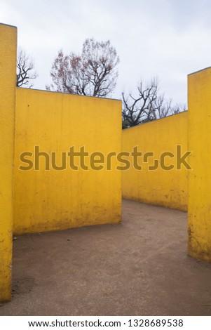 Yellow zigzag ways #1328689538