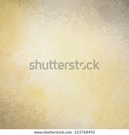 yellowed white paper background with gray grunge border texture, old worn white paper