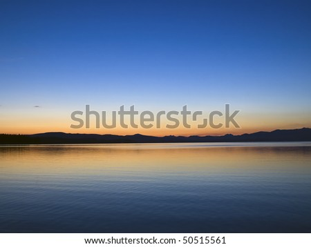 Yellowstone Lake at Dawn, Yellowstone National Park, Wyoming