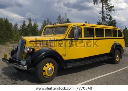 Yellowstone National Park Tour Bus.