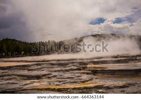 Yellowstone National Park. Wyoming. USA. Geysers.  #664363144
