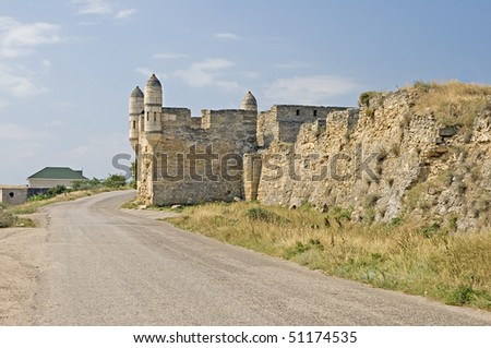 Yeni-Kale, ancient turkish fortress in Kerch, Crimea