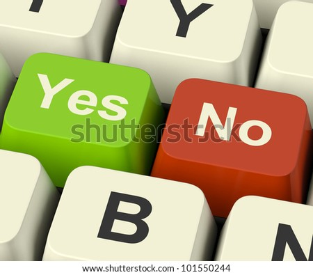 Yes No Keys Represent Uncertainty And Decisions Online