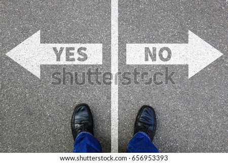 Yes no right wrong answer business concept solution decision decide choice Stock foto ©