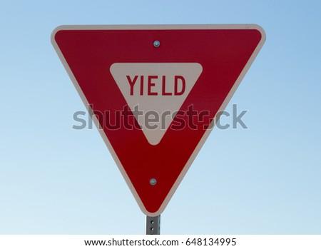 Yield ahead #648134995