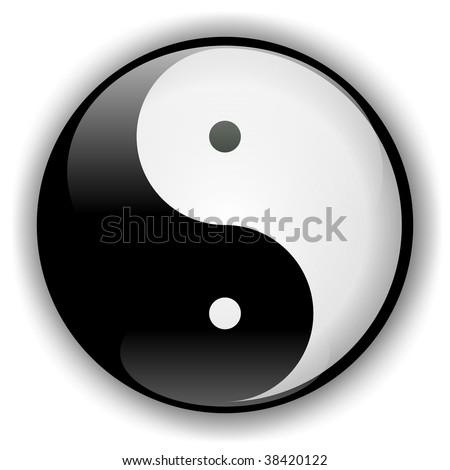 Yin-Yang Icon 2 - stock photo