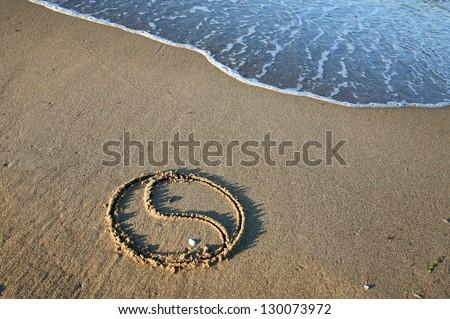 Photo of  Yin Yang on the beach