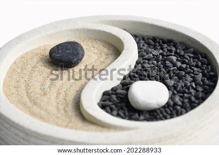 ying yang and, Zen garden