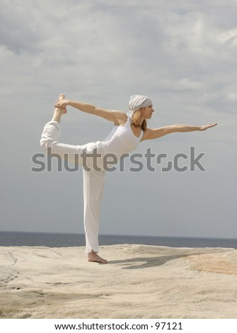 Yoga balancing pose - 