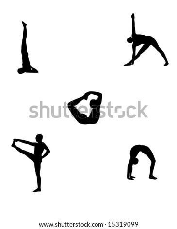 yoga postures. body. clip art