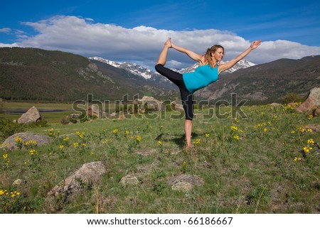 Yoga in the mountains of Colorado