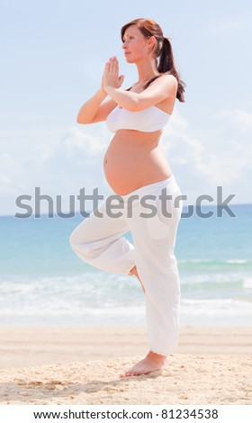 yoga meditating awaiting baby