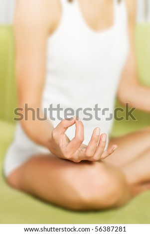 Yoga meditation pose.