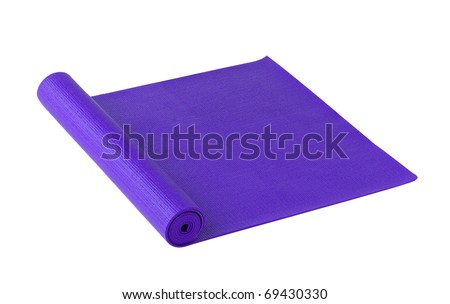 Yoga or exercise mat isolated