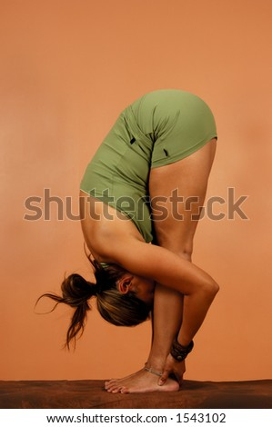 Yoga Pose Head to toes - stock photo