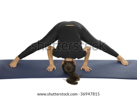 yoga pose  prasarita padottanasana  standing straddle
