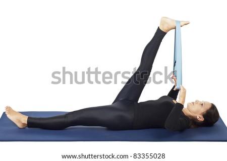 yoga pose supta padangusthasana 2 reclining handtobig