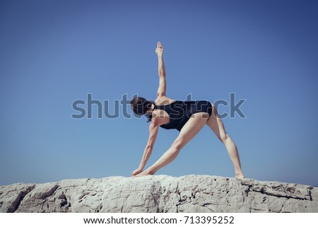 Yoga pose, Turkey #713395252