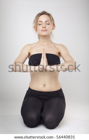 Yoga Woman in studio