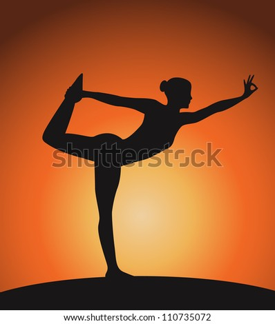 Yoga woman in triangle 2 pose.