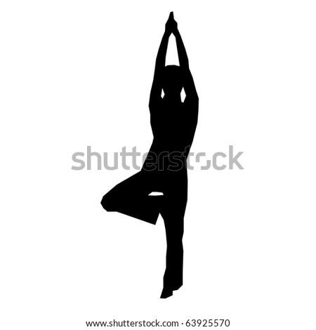 Yoga woman silhouette illustration