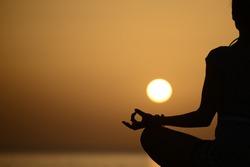 Yoga, yoga teacher, yoga at sunset