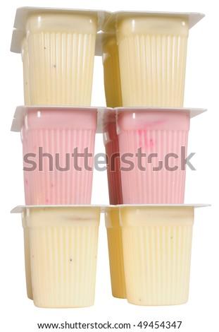 Yogurt pack. Isolated