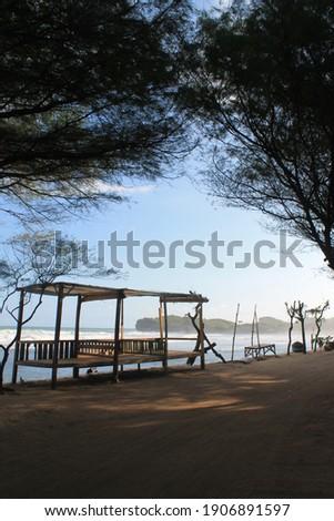 Yogyakarta-Indonesia 2016. at Krakal Beach. is extemely beautiful beaches at southern edge of yogyakarta. Stock photo ©