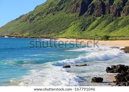 Yokohama Beach - Ka'ena Point State Park - west Oahu, Hawaii