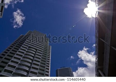 Yokohama-city skycrapers business area at Yokohama Japan