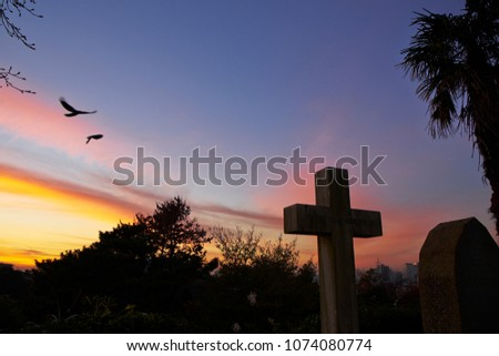 Free photos Cross on the dark sky background | Avopix com