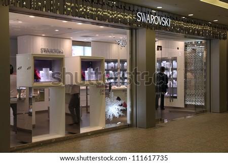 YOKOHAMA, JAPAN - MAY 10: Swarovski store on May 10, 2012 in Yokohama, Japan. Swarovski brand exists since 1895 and has 24,841 employees (Dec 2009).