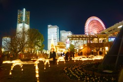 Yokohama night view and illuminations