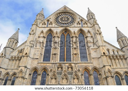 York Minster, a landmark cathedral in York, England.