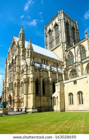 York Minster, York, England  - stock photo