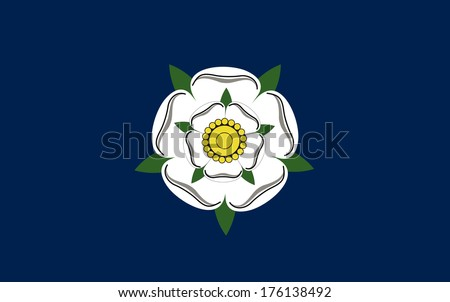 yorkshire county people ethnic england country flag computer generated