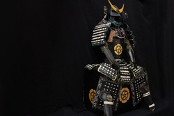 yoroi armor of a samurai warrior. there is a place for copy space