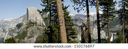 Yosemite Half Dome Panoramic