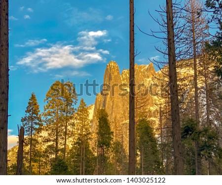 Yosemite Horsetail Falls in February  #1403025122