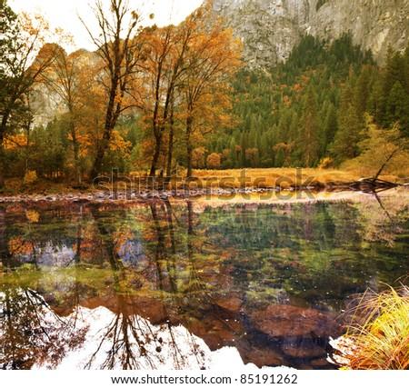 Yosemite in autumn season