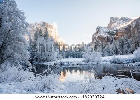 Yosemite National Park in Winter, California-USA