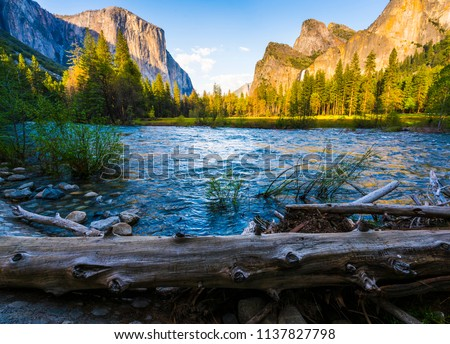 Yosemite National park with river in foreground,California,usa. #1137827798